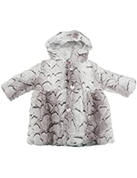 Universal Textiles Baby/Toddler Girls Hooded Fluffy Winter Coat