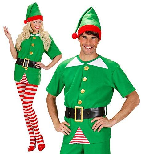 WIDMANN WDM75922 - Costume Per Adulti Elfo Aiutante di Babbo Natale, Verde, M