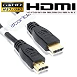 Brand : CABLEGALLERY Colour : Black Product Description The HDMI 30CM High Speed HDMI cable enables close-range connections of your HDMI-enabled devices, for situations where a longer cable would create clutter. Plus, this short HDMI cable provides a...