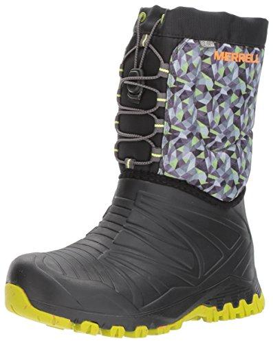 Merrell Jungen Ml-b Snowquest Waterpoof Schneestiefel, Schwarz (Black/Green), 31 EU Merrell Snow Boots