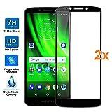 REY Pack 2X Pellicola salvaschermo 3D per Motorola Moto G6 Play, Nero, Copertura Completa, Pellicola Protettiva Protezione Schermo, 3D / 4D / 5D