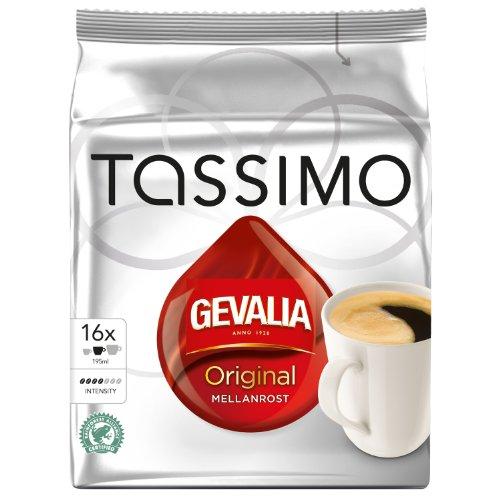 Tassimo Gevalia Original, Kaffee, Arabica, Kaffeekapsel, gemahlener Röstkaffee , 16 T-Discs Tassimo T-discs Gevalia