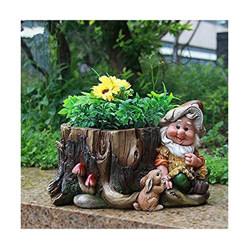 Gnomo de diseño 15198 con Maceta Decorativa para jardín (16 cm de...