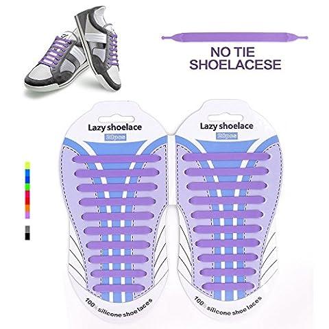 Elastische Silikon Schnürsenkel elastische Schnürsenkel,No Tie Shoelaces für rwachsene Wasserdichte Silikon flache elastische Sportlauf Schnürsenkel mit Multicolor für Sneaker Stiefel Brettschuhe und (Clip Navy Tie Clip)