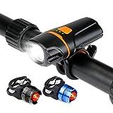 LED Fahrrad Beleuchtung,LC-dolida USB Wasserdicht Fahrradlampe Taschenlampe Mit Zwei Rücklichter MTB Licht 1000 Lumen Frontlicht Wiederaufladbare Fahrradleuchte Für Rennrad Bike Cycling Road Bike