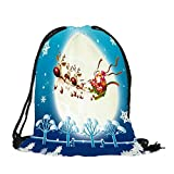 Sansee Merry Christmas Candy Bag Satchel Rucksack Bundle Pocket Drawstring Storage Bag-Sweets/Candy Decoration Party Accessories (Colour B)