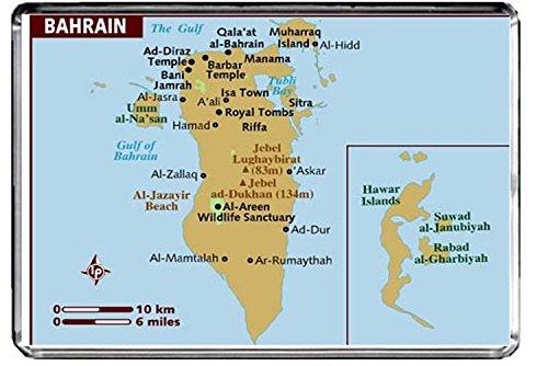 CFL M017 KARTE VON BAHRAIN KÜHLSCHRANKMAGNET BAHRAIN REISE KÜHLSCHRANK MAGNET - Karte Von Bahrain