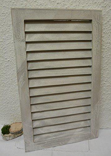 Nostalgie Holz Deko Fensterladen gewischt 48 x 28 cm