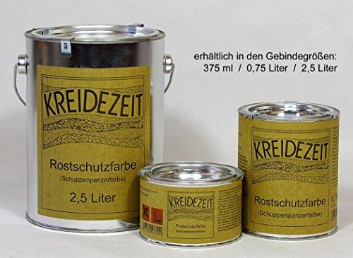 Kreidezeit | Rostschutzfarbe | Schuppenpanzerfarbe | Primer (Inhalt 0,75 Liter)