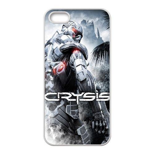 Crysis 33 coque iPhone 4 4S Housse Blanc téléphone portable couverture de cas coque EBDXJKNBO16034