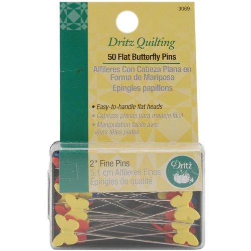 Dritz verschiedenen Quilting flach Schmetterling pins-Size 3250/Pkg -