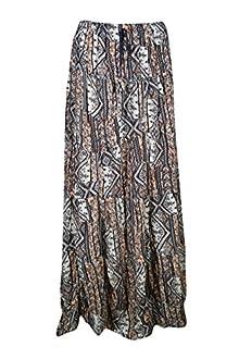 a7281b4d6c Indiatrendzs Women's Western Long Skirts Rayon Beige Fit Maxi Skirt