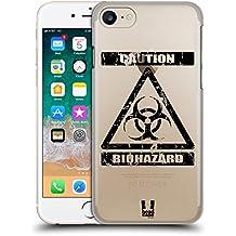 Head Case Designs Bio Simboli Di Pericolo 2 Cover Retro Rigida per Apple iPhone 7 / 8