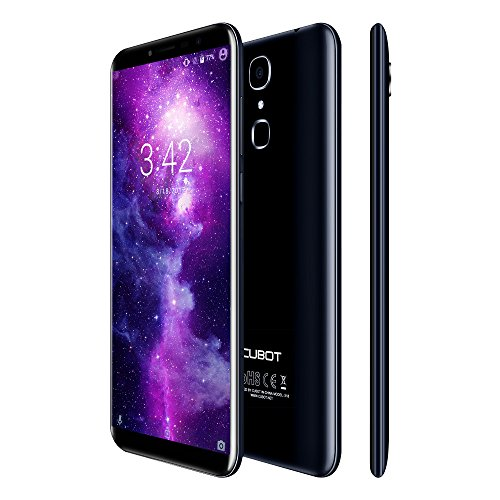 CUBOT X18 4G Unlocked Smartphones Sim Free with Fingerprint Scanner, 5.7 inch IPS Screen, 3GB Ram + 32GB Rom, 3200mAh Battery, Android 7.0, Dual Camera, Dual SIM, WiFi, GPS, Bluetooth(Blue)