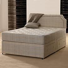 Deluxe Beds Ltd 121,92cm matrimonio pequeña Paris cama Diván ortopédica–sin cajones por Deluxe Beds