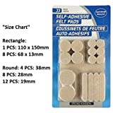 #10: Okayji Self Adhesive Felt Material Pads For Furniture Floor Scratch Protection Guards, 33 Pieces (Mix Shape and Size)