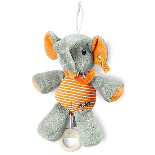 Steiff 240287 - Trampili Elefant Spieluhr 22, grau/orange