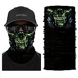 ShopINess Cache-Cou/Foulard Multifonctions - Crâne/tête de Mort - Predator