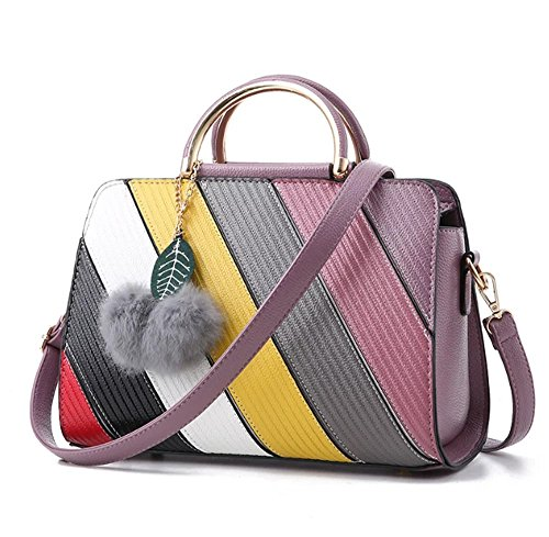 fanova-sweet-patchwork-pu-top-handle-bag-color-block-splicing-shoulder-handbag-tote-for-women-girls