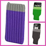 Incutex Handysocke Textilsocke Handy Sleeve lila Handytasche aus Textil für iPhone 3 4 5 iPod MP3-Player usw.