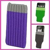 Incutex Handysocke Textilsocke Handy Sleeve lila Handytasche aus Textil für