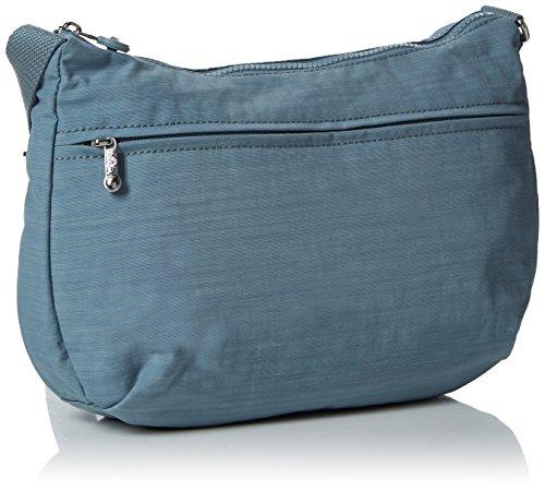 Kipling Damen Izellah Umhängetasche, 33x23x12 cm Blau (Dazz Soft aloe)