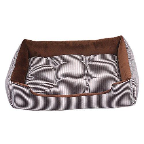 YUHUAWYH Camas para Perros y Gatos Cesta Mascotas Pequeña Medianos Máquina Lavable (XL:80 * 60 * 15 CM, Café)