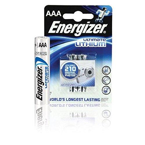 ENERGIZER Blister de 2 Piles Ultimate Lithium L92 AAA Micro LR03