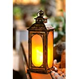 Wonderland LED Artificial Flame Lantern Or Lamp With Flickering Wick , Light For Garden Decor, Home Decorative Item, Gift, Gifting, Needs Battery, No Electricity