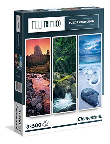 Clementoni - 398003 - Puzzle - Trittico - Nature - 3 x 500 Pièces