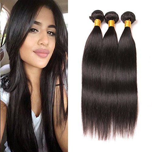 Dai Weier Brazilian Hair Straight Remy Tresse 100 Virgin Human Hair Extensions Echthaar Tressen On Prime Cheap 3 Bundles 24 26 28 Inch (Indischen 24 Hair Remy Extensions)