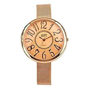 Eton para Mujer de Malla Reloj de Pulsera, Oro Rosa Acabado–2946j-rg