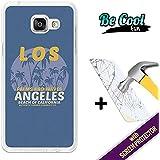 BeCool® Fun - Coque Etui Housse en GEL Flex Silicone TPU Samsung Galaxy A5 2016 [ +1 Protecteur Verre Trempé ] , protège et s'adapte a la perfection a ton Smartphone et avec notre design exclusif. Los Angeles