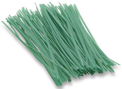 Windhager Pflanzenbinder Drehbinder Drahtstreifen Bindedraht Pflanzen-Anbinder, zum Blumenbinden oder Basteln, 100 Stück, Grün; 06217