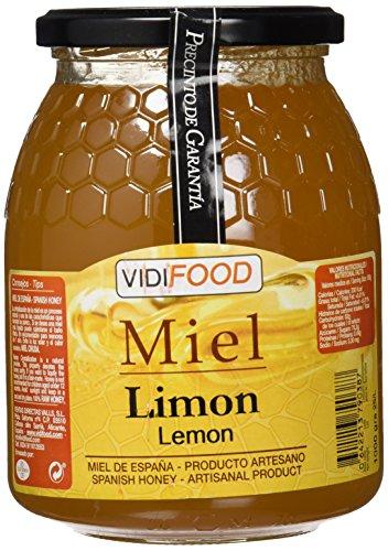 Miel de Limón - 1kg - Fabricada en España - Alta Calidad, tradicional & 100% pura - Aroma Floral, Sabor Rico y Dulce - Amplia variedad de Deliciosos Sabores