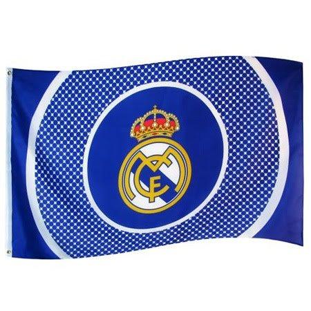 DRAPEAU OFFICIEL FC REAL MADRID NEUF TAILLE 150X90 CM FOOTBALL LIGA