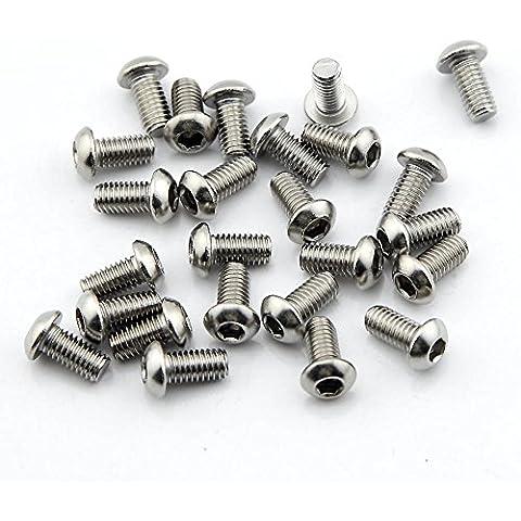 Owfeel Confezione da 25M6* 12mm pulsante testa esagonale Viti Bulloni in acciaio inox 304