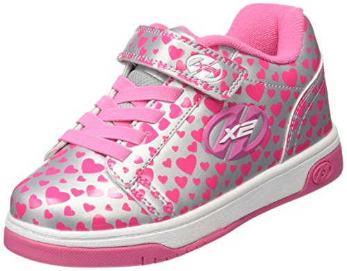 Heelys Dual Up 778047 - Zapatillas Infantiles, Niñas, Multicolor (Silver/Hearts), 31