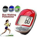 cosanter Contapassi Step Counter Conta Calorie Pedometro con grande schermo LCD Display, proprio Track Schritte Giunto Bar Contapassi con clip