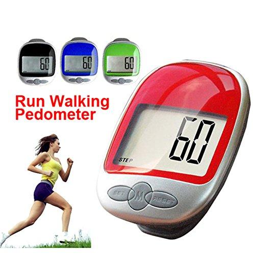 Cosanter Schrittzähler Stepcounter Kalorienmesser Pedometer mit Großbild LCD Display, Genau Track Schritte Tragbar Schrittmesser mit Clip