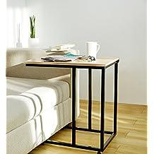 SUHU Coffee Side End per computer portatile da tavolo Scaffale in legno di quercia Soggiorno moderno 40 x 60 x 62 cm