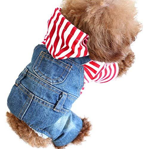 SILD Coole Vintage Washed Denim Jacke Jumpsuit Blau Jean Kleidung für kleine Haustiere Hund Katze/3 Styles XS-XXL -