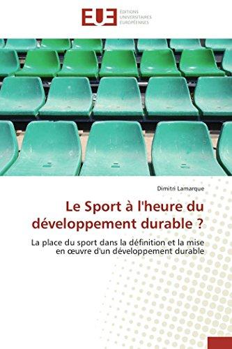 Le sport à l'heure du développement durable ?