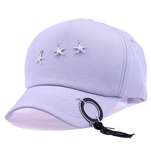 Mzdpp Baumwolle Weiß Sterne Ring Quaste Baseballmütze Straße Im Freien Hip Hop Unisex Sonnenhut