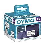 Dymo S0722430 LW Große Versandetiketten/Namensschilder (101 mm x 54 mm Rolle, 220 Stück) schwarzer Druck auf weiß