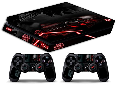 Skin Ps4 SLIM - STAR WARS BLACK - limited edition DECAL COVER ADESIVA Playstation 4 Slim SONY BUNDLE