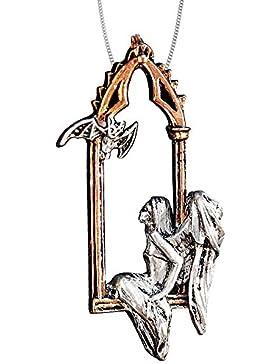 Anhänger Engel der Träume teilvergoldet mit Halskette Engelanhänger Schmucksäckchen und Karte 11