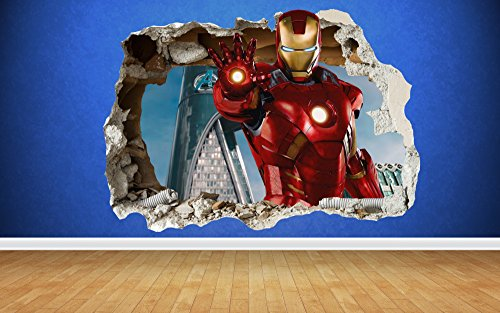 iron-man-effet-3d-chocs-sticker-mural-avengers-style-art-de-transfert-de-iron-man-marvel-multicolore