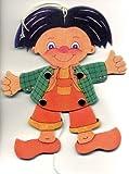 Max lustige Hampelfigur aus Pappe