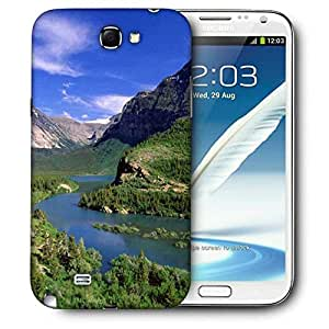 Snoogg Abstract Lake Nature Printed Protective Phone Back Case Cover For Samsung Galaxy Note 2 / Note II